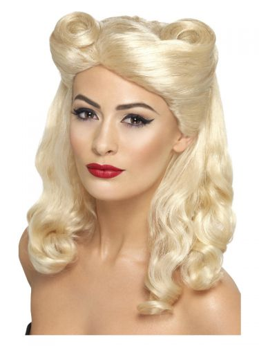 40s Pin Up Wig, Blonde