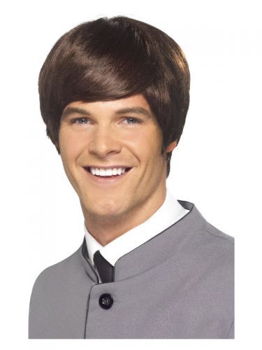 60s Male Mod Wig, Brown
