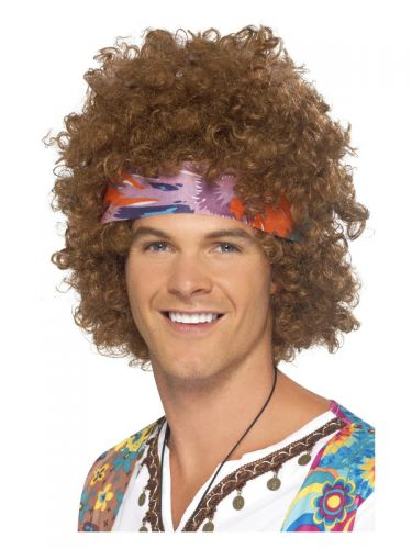Hippie Afro Kit, Brown