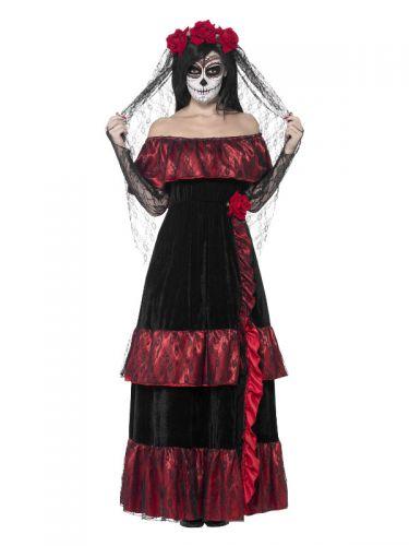 Day of the Dead Bride Costume, Black