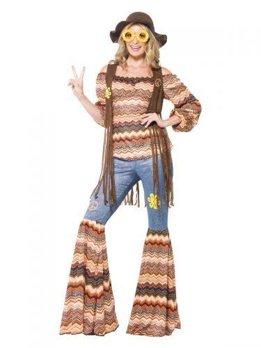Harmony Hippie Costume, Multi-Coloured
