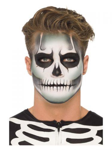 Smiffys Make-Up FX, GID Skeleton Kit, Grease, Blac