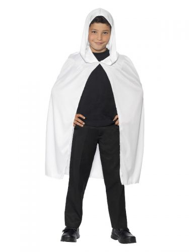Hooded Cape, White