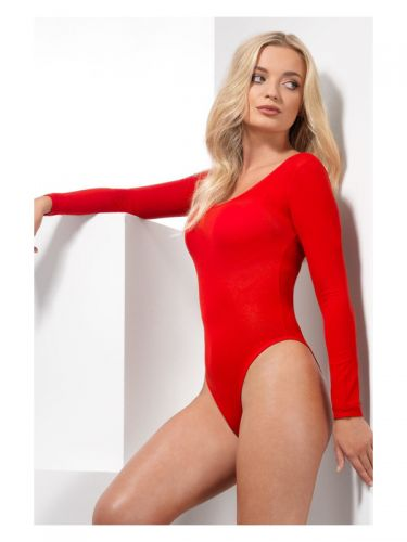 Opaque Bodysuit, Red