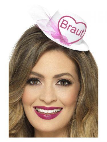 Braut Hat, White & Pink