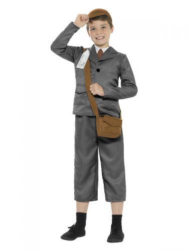 WW2 Evacuee Boy Costume, Grey