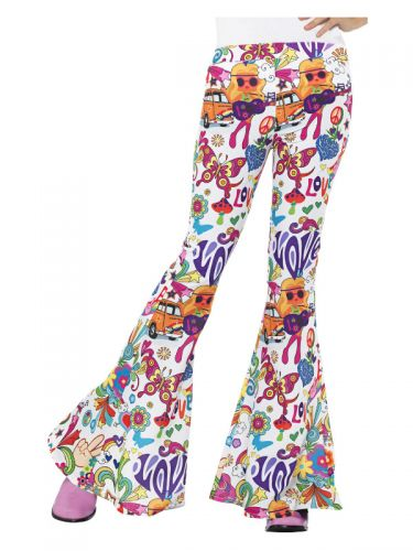 Groovy Flared Trousers, Ladies, Multi-Coloured