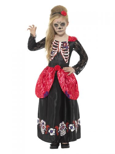 Deluxe Day of the Dead Girl Costume, Black