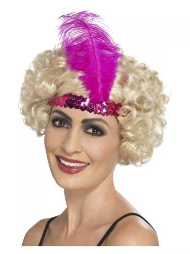 Flapper Headband, Pink