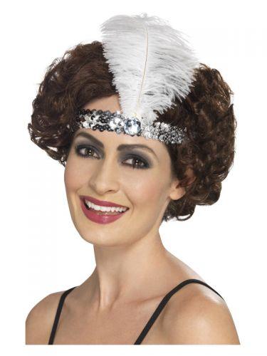 Flapper Headband, Silver