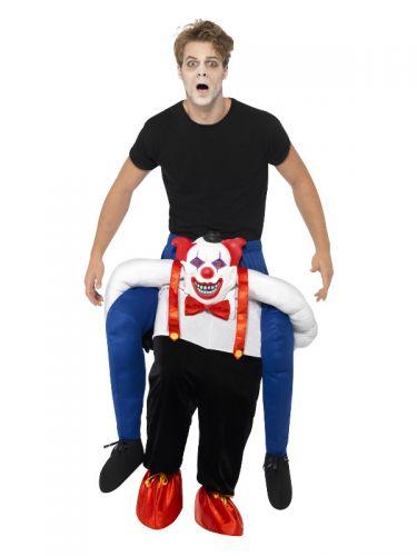 Piggyback Sinister Clown Costume, Blue