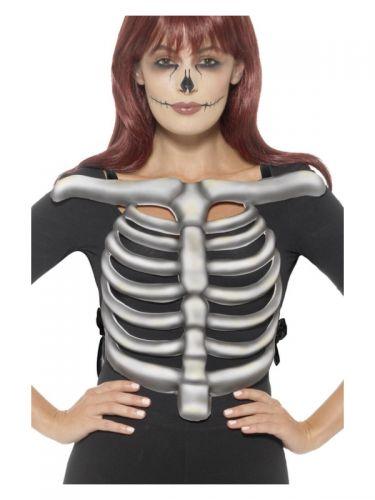 Skeleton Rib Cage Top, Unisex, White