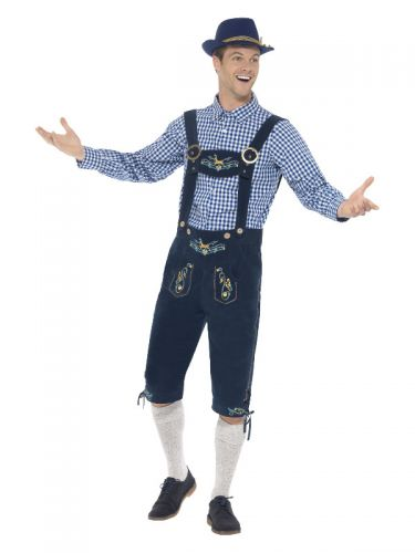 Deluxe Traditional Rutger Bavarian Costume, Blue