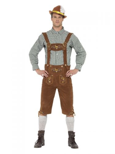 Deluxe Traditional Hanz Bavarian Costume, Green