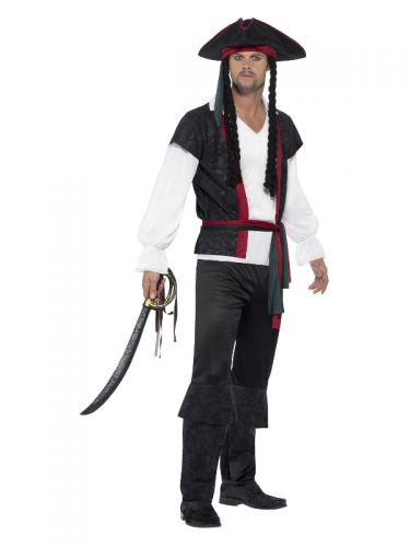 Aye Aye Pirate Captain Costume, Black