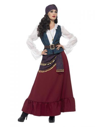 Deluxe Pirate Buccaneer Beauty Costume, Purple