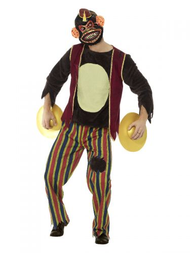 Deluxe Clapping Monkey Toy Costume, Multi-Coloured