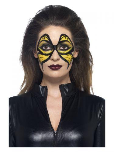 Smiffys Make-Up FX, Yellow Liquid Latex Kit, with,