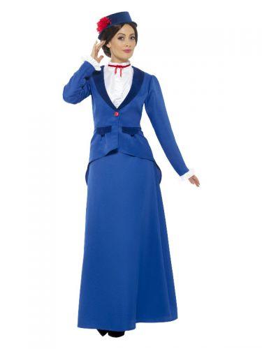 Victorian Nanny Costume, Blue