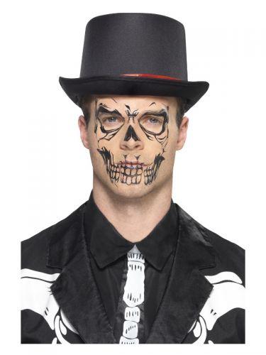 Smiffys Make-Up FX, Skull Face Tattoo Transfer,