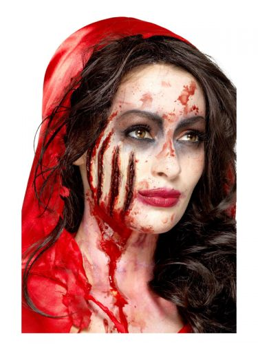 Smiffys Make-Up FX, Latex Claw Wound Scar, Red
