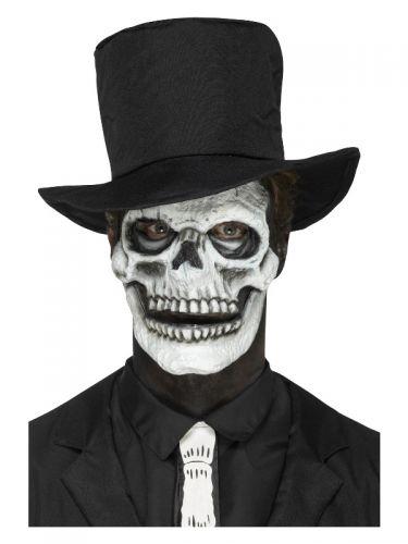 Smiffys Make-Up FX, Foam Latex Skeleton Face, Whit