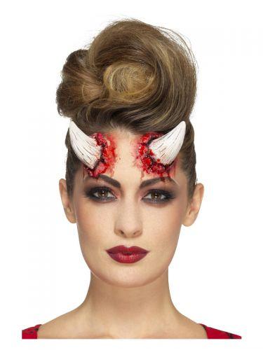 Smiffys Make-Up FX, Latex Devil Horn Prosthetics,