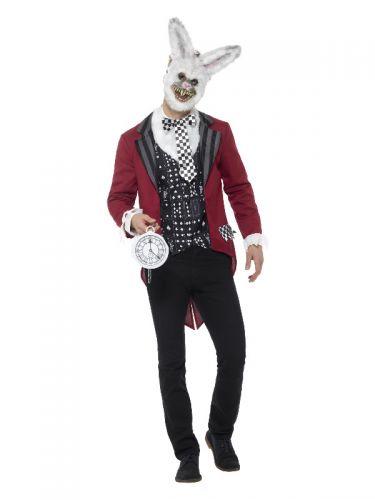 Deluxe White Rabbit Costume, Red