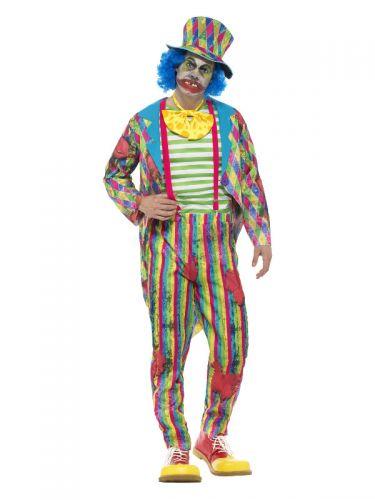 Deluxe Patchwork Clown Costume, Male, Multi-Colour