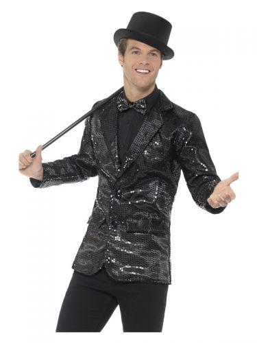 Sequin Jacket, Mens, Black