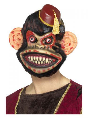 Zombie Toy Monkey Mask, Brown