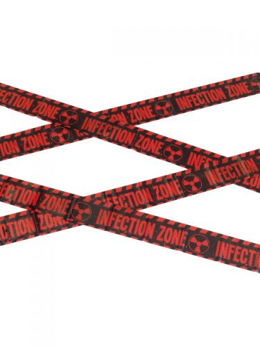 Zombie Infection Zone Caution Tape, Red & Black