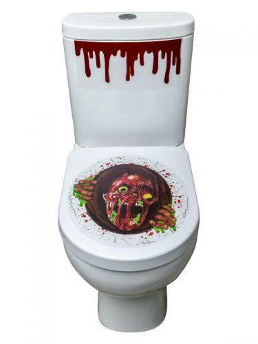 Zombie Portal Toilet Seat Stickers, Red