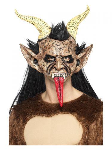 Beast / Krampus Demon Mask, Brown