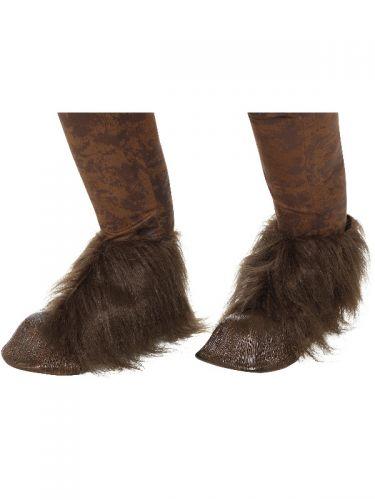 Beast / Krampus Demon Hoof Shoe Covers, Brown