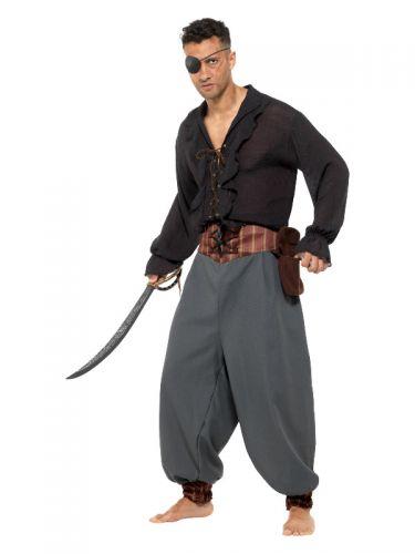 Pirate Blouson Pants, Grey