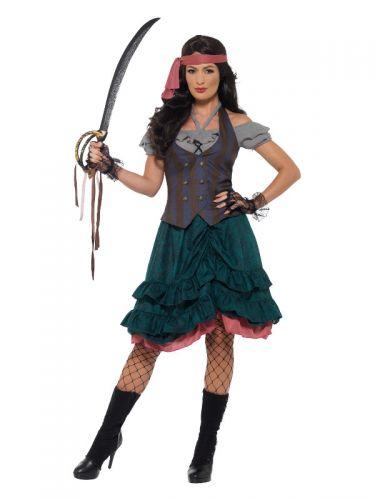 Deluxe Pirate Wench Costume, Multi-Coloured