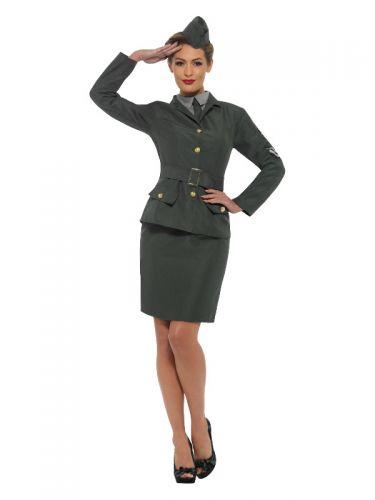 WW2 Army Girl Costume, Green