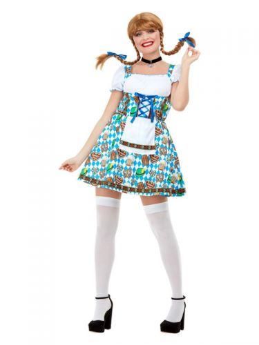 Oktoberfest Beer Maiden Costume, Blue