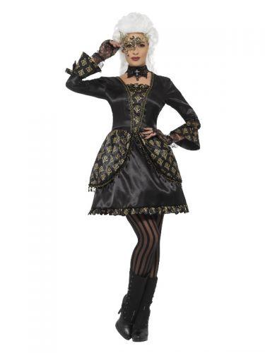 Deluxe Masquerade Costume, Black & Gold