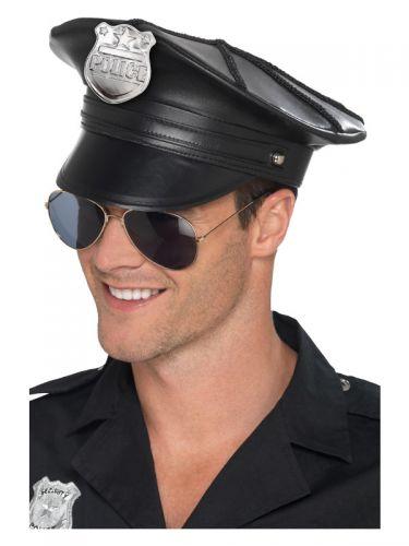 Deluxe Police Hat, Black