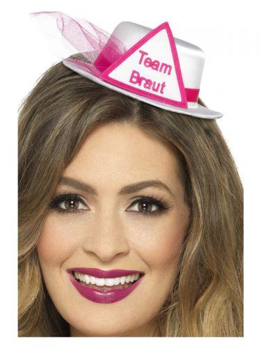 Team Braut Hat, White