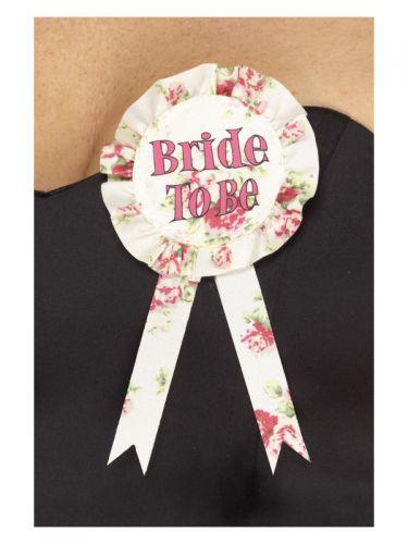 Vintage Bride to Be Rosette, Multi-Coloured