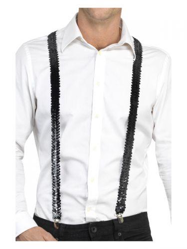 Sequin Braces, Black