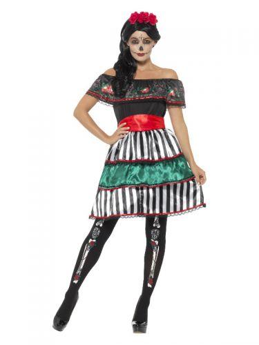 Day of the Dead Senorita Doll Costume, Multi-Colou