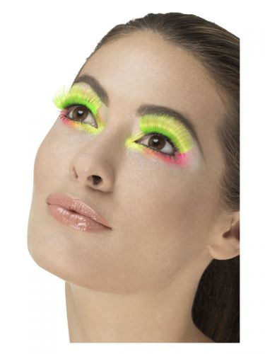 80s Party Eyelashes, Neon Green