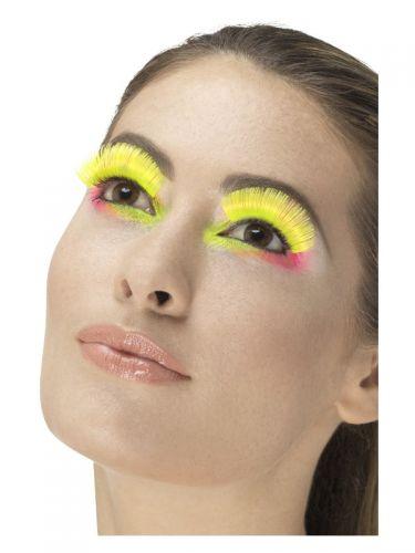 80s Party Eyelashes, Neon Yellow