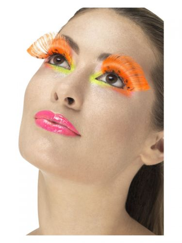 80s Polka Dot Eyelashes, Neon Orange
