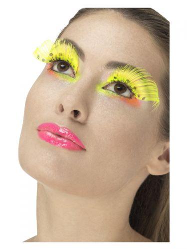 80s Polka Dot Eyelashes, Neon Yellow