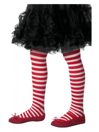 Striped Tights, Childs, Red & White